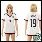 Acheté Maillots Allemagne (Gotze 19) Femme Domicile 2015 Coupe Du Monde Boutique En Ligne