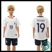 Acheter Des Maillot Foot France (Pogba 19) Enfant Kits Extérieur 2015/16 Pas Cher