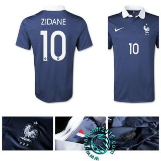 Acheter Maillot Foot France (Zidane 10) Domicile 2015/16 Magasin En Ligne