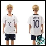 Acheter Un Maillot France (Zidane 10) Enfant Kits Extérieur 2015 2016 En Ligne