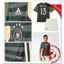 Allemagne Maillot Foot Muller Enfant Kits Extérieur Coupe Euro 2016