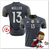 Allemagne Maillot Foot Muller Extérieur Coupe Euro 2016