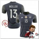 Allemagne Maillot Foot Muller Extérieur Coupe Euro 2016