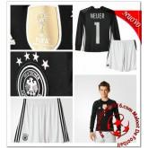 Allemagne Maillot Foot Neuer Enfant Kits Domicile Manche Longue Gardien Coupe Euro 2016