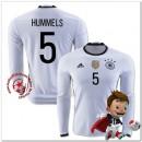 Allemagne Maillot Hummels Domicile Manche Longue Coupe Euro 2016