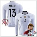 Allemagne Maillot Muller Domicile Manche Longue Coupe Euro 2016