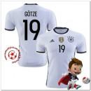 Allemagne Maillots De Foot Gotze Domicile Coupe Euro 2016