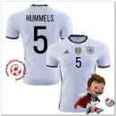 Allemagne Maillots De Foot Hummels Domicile Coupe Euro 2016
