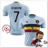 Belgique Maillot De Bruyne Extérieur Coupe Euro 2016