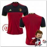 Belgique Maillot Domicile Coupe Euro 2016