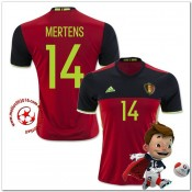 Belgique Maillots De Foot Mertens Domicile Coupe Euro 2016