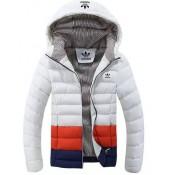 Coton Manteau Adidas 2016 - Blanc/Rouge/Bleu Boutique En Ligne