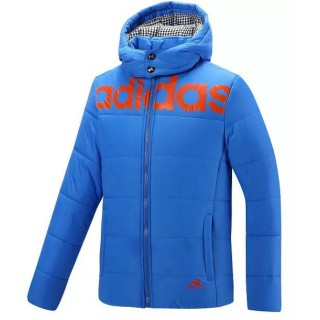 Coton Manteau Adidas 2016 - Bleu Ciel Vente En Ligne