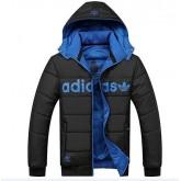Coton Manteau Adidas 2016 - Noir/Bleu Catalogue