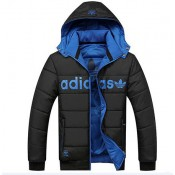 Coton Manteau Adidas 2016 - Noir/Bleu Catalogue