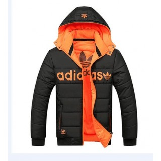 Coton Manteau Adidas 2016 - Noir/Orange Shop France