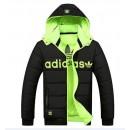 Coton Manteau Adidas 2016 - Noir/Vert Réduction
