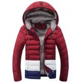 Coton Manteau Adidas 2016 - Rouge/Blanc/Bleu Rabais