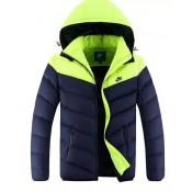 Coton Manteau Nike 2016 - Vert/Bleu Magasin De Sortie