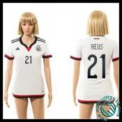 Créer Son Propre Maillot Foot Allemagne (Reus 21) Femme Domicile 2015 Coupe Du Monde En Ligne