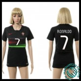 Créer Un Maillots Portugal (Ronaldo 7) Femme Extérieur 2015-2016 En Ligne Boutique