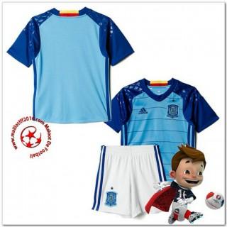 Espagne Maillot Enfant Kits Domicile Gardien Coupe Euro 2016