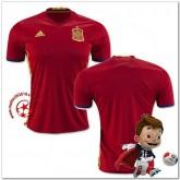 Espagne Maillot Foot Domicile Coupe Euro 2016