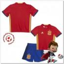 Espagne Maillots De Foot Enfant Kits Domicile Coupe Euro 2016