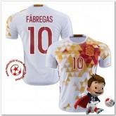 Espagne Maillots De Foot Fabregas Extérieur Coupe Euro 2016
