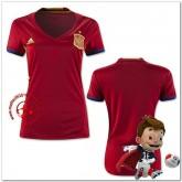 Espagne Maillots De Foot Femme Domicile Coupe Euro 2016