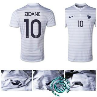 Etoile Maillot France (Zidane 10) Extérieur 2015 2016 Pas Cher En Ligne