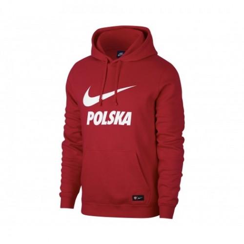 Sweat à capuche Nike Pologne Rouge