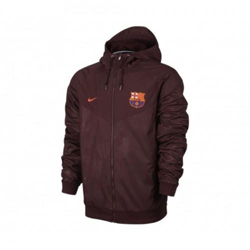 Veste à capuche Nike FC Barcelone Windrunner Rouge