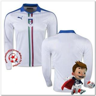Italie Maillot Extérieur Manche Longue Coupe Euro 2016