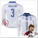 Italie Maillot Foot Chiellini Extérieur Manche Longue Coupe Euro 2016