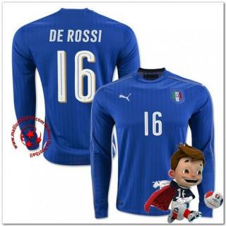 Italie Maillot Foot De Rossi Domicile Manche Longue Coupe Euro 2016