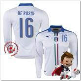 Italie Maillot Foot De Rossi Extérieur Manche Longue Coupe Euro 2016