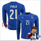 Italie Maillot Pirlo Domicile Manche Longue Coupe Euro 2016