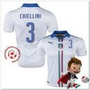 Italie Maillots De Foot Chiellini Extérieur Coupe Euro 2016
