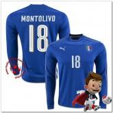 Italie Maillots De Foot Montolivo Domicile Manche Longue Coupe Euro 2016