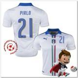 Italie Maillots De Foot Pirlo Extérieur Coupe Euro 2016