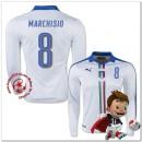 Italie Maillots Foot Marchisio Extérieur Manche Longue Coupe Euro 2016