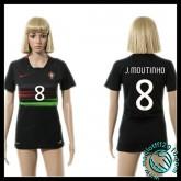 Jeux De Maillot Portugal (J.Moutinho 8) Femme Extérieur 2015/16 Magasin En Ligne