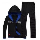 Kit Sport Adidas - Noir/Bleu 3 Grosses Soldes
