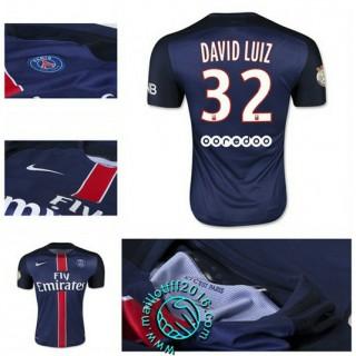 Maillot (David Luiz 32) Paris Saint Germain 2015 2016 Domicile