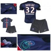 Maillot Foot (David Luiz 32) Paris Saint Germain Enfant Kits 2015-16 Domicile