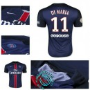 Maillot Foot (Di Maria 11) Paris Saint Germain 2015-2016 Domicile