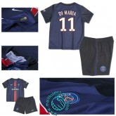 Maillot Foot (Di Maria 11) Paris Saint Germain Enfant Kits 2015-16 Domicile