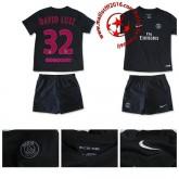 Maillot Foot Psg David Luiz Enfant Kits Troisième 2015/16