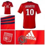 Maillot (Lacazette 10) Olympique Lyonnais 2015 16 Extérieur